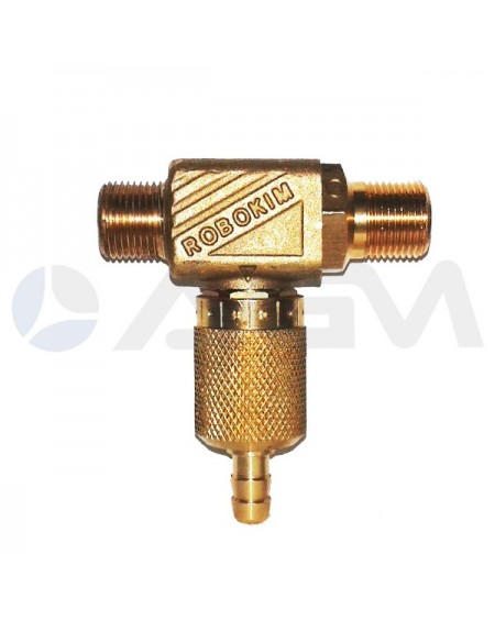 "INYECTOR REGULABLE BOQUILLA Ø3,5mm. 16-21 LPM INTERPUMP ""ROBOQUIM-2""."