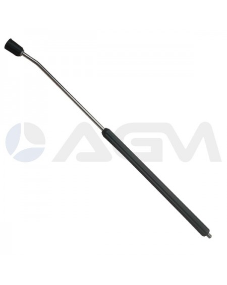 "LANZA LAVADO ""SF40"" +""MV114"" NEGRA 700mm. INOXIDABLE E. G. 1/4""M-S. G. 1/4""H."