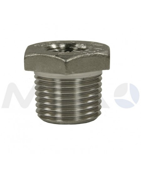 "UNION REDUCION INOX 1/4""H-1/2""M 500 BAR"