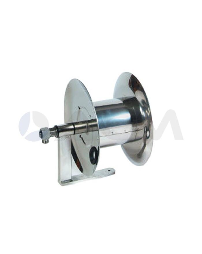 """ENROLLADOR MANUAL MAGNUM MINI ACERO INOX 350Bar-(20mt-Ø3/8"""")."""