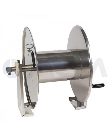"""ENROLLADOR MANUAL MAGNUM 2000 ACERO INOX 350Bar-(150mt-Ø1/2"""")."""