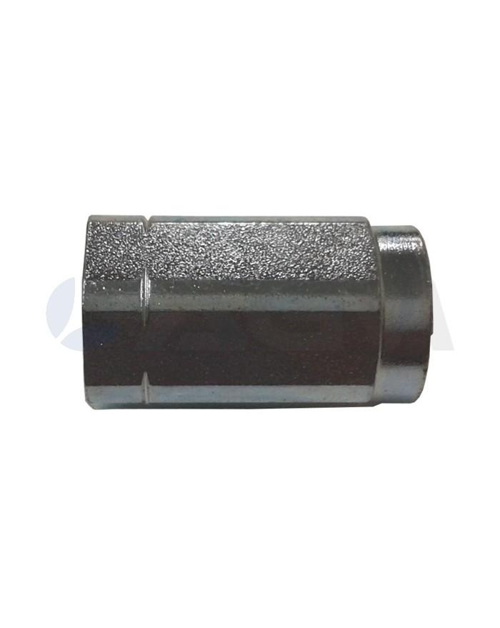 "UNION HEMBRA ZN  1/4""H-1/4""H NPT 350 BAR-60 LPM-150 °C."