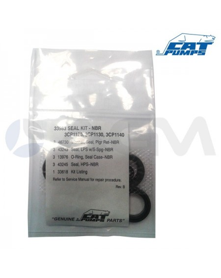 KIT COLLARINES  NBR CATPUMP 3CP1140-3CP1130-3CP1120 (33983)