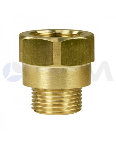 "UNION  HEXAGONAL LATON 3/8""H-3/8""M-29MM-250B."