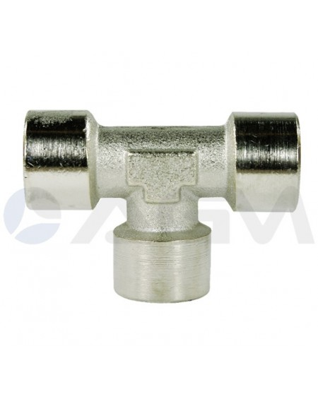 "UNION EN ""T"" ACERO INOXIDABLE E. 3xBSP 3/4""H PRESION MAXIMA 250 BAR."