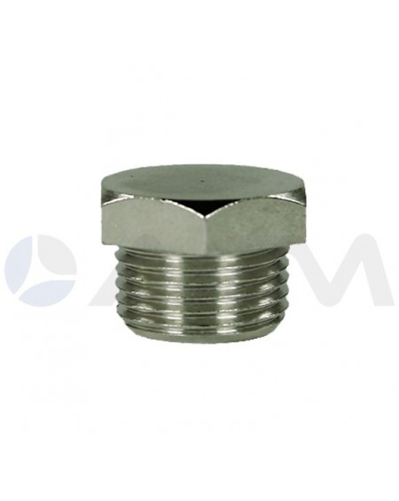 "TAPON HEXAGONAL LATON G. 1/4""M PRESION MAXIMA 250 BAR."