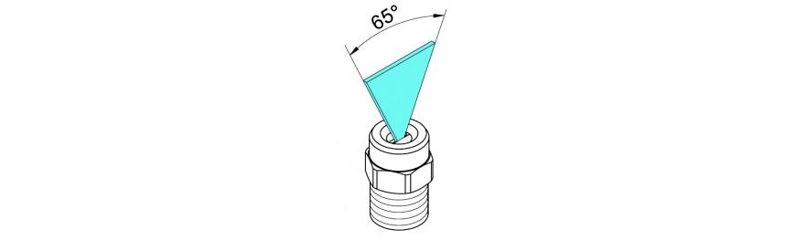 Boquillas de lavado de alta presión ángulo 65. Pressure washing nozzles. Buse nettoyeur haute pression.