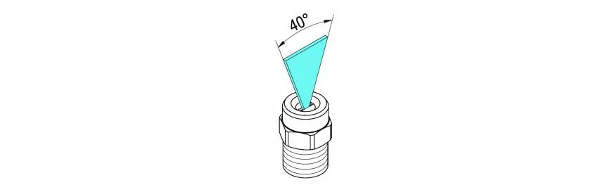 Boquillas de limpieza alta presión de ángulo 40.