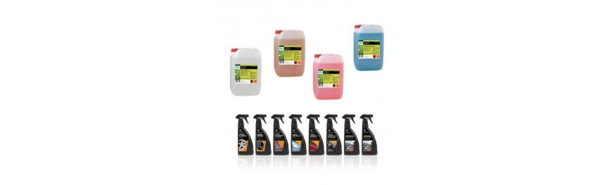 productos químicos para lavado de vehículos y lavado industrial.