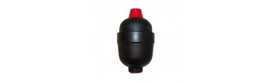 Acumulador hidráulico de membrana NBR 0,35 litros.