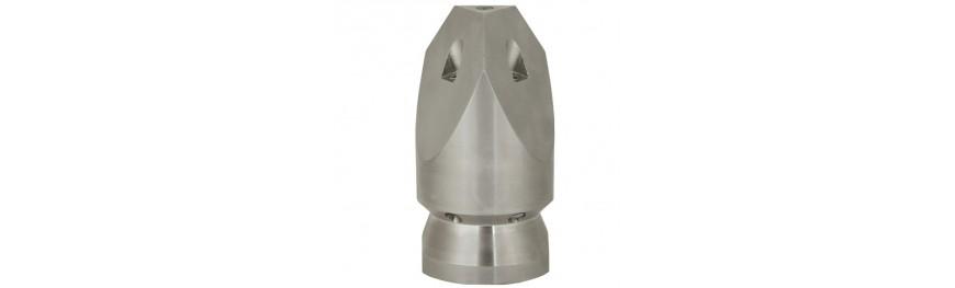 Boquillas alta presión para limpieza de tuberías. Hidrolimpiadoras de alta presión.