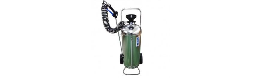 Pulverizadores industriales manuales y con depósito a presión.