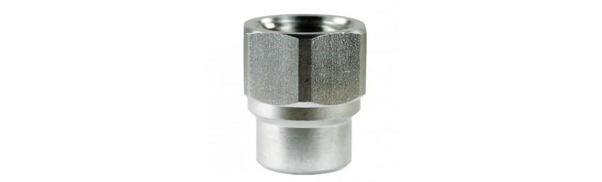 Uniones Reductoras de alta presión de latón e inox. Presión máxima 500 Bar.